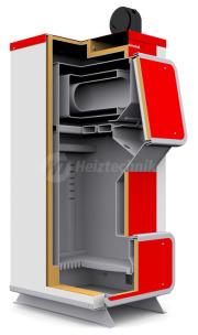 Твердопаливний котел Heiztechnik Q Plus 25. Фото 2